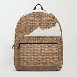 Virginia is Home - White on Burlap Backpack
