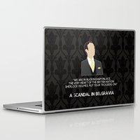scandal Laptop & iPad Skins featuring A Scandal in Belgravia - Mycroft Holmes by MacGuffin Designs