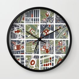 Urban fragments I of‪ NewYork‬, ‎Paris‬, London‬, Berlin‬, Rome‬ and Seville Wall Clock