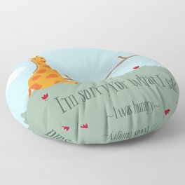 I was Hungry Floor Pillow