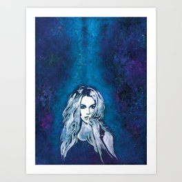 Cosmic Radiance Britney Spears Art Print
