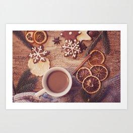 Cookies & tea Art Print