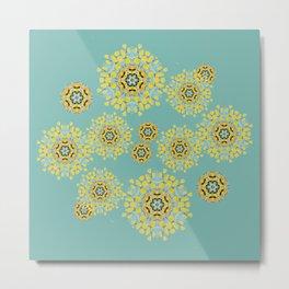 bee's flowers Metal Print
