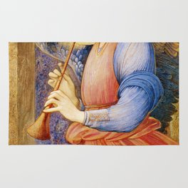 Angel Gabriel Antique Spiritual art Rug