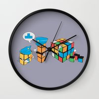 camouflage Wall Clocks featuring Camouflage by Ava Guerrero
