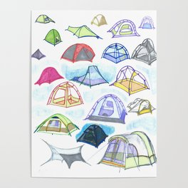 tents from a mountain vagary Poster