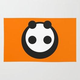 A Most Minimalist Panda  Rug