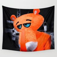 panther Wall Tapestries featuring Sad panther by DistinctyDesign