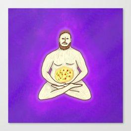 Yoga Pizza Canvas Print
