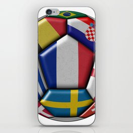 Russia 2018 - football ball with various flags iPhone Skin