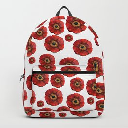 Red Poppies Transparent Backpack