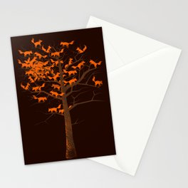 Blazing Fox Tree II Stationery Cards