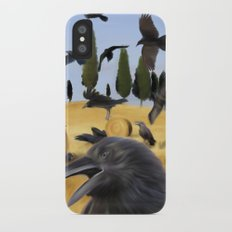 Crows in Tuscany iPhone X Slim Case
