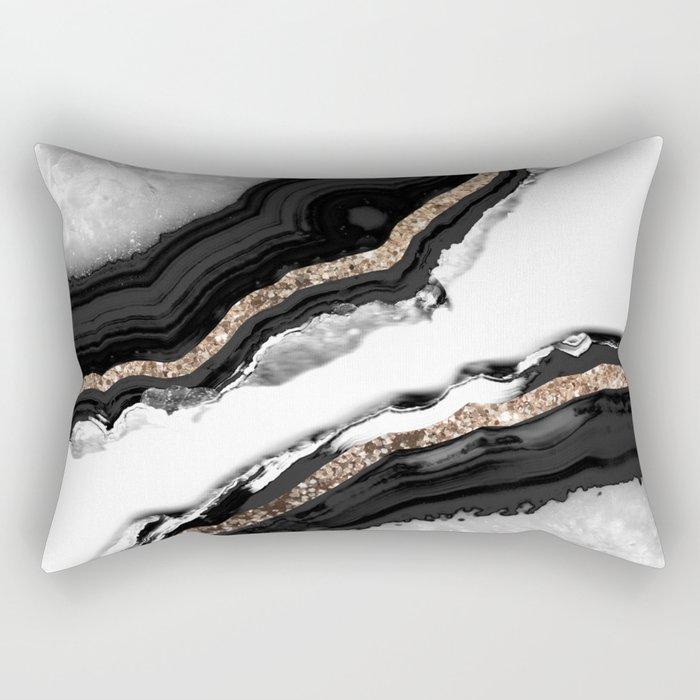 Agate Glitter Glam #2 #gem #decor #art #society6 Rectangular Pillow