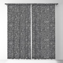 Physics Equations // Charcoal Grey Blackout Curtain