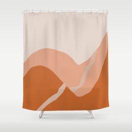 a pale trail Shower Curtain
