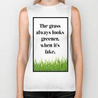grass Biker Tanks featuring GRASS by C O R N E L L