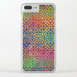 DP050-1 Colorful Moroccan pattern Clear iPhone Case