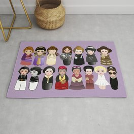 Kokeshis Women in the History Rug