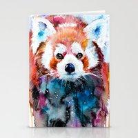 red panda Stationery Cards featuring Red panda by Slaveika Aladjova