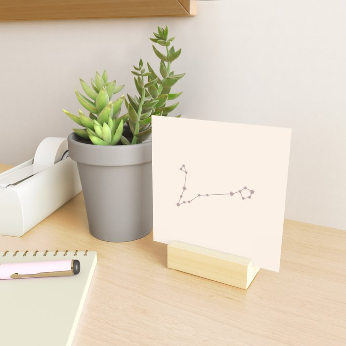 Pisces Zodiac Constellation Neutral Rose Mini Art Print
