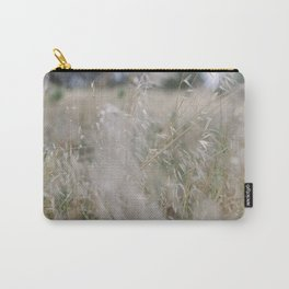 Tall wild grass growing in a meadow Carry-All Pouch