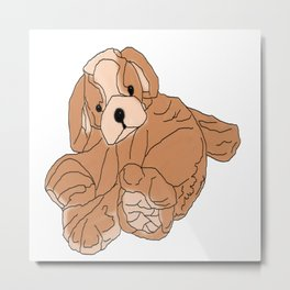 Stuffed Puppy Metal Print