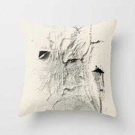 seams and holes Throw Pillow