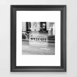 Closed Framed Art Print