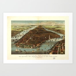 The City of New York (1883) Art Print