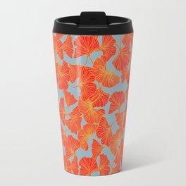 Tumbling Ginkgo Red Travel Mug