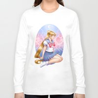 sailormoon Long Sleeve T-shirts featuring Sailor moon by Roots-Love