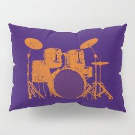 Vintage Drummer Drums Distressed Pillow Sham