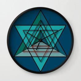 Star Tetrahedron Wall Clock