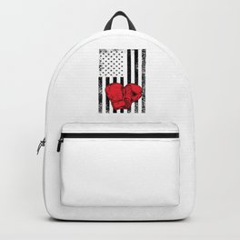 US Gloves Flag Boxing Gloves Funny Happy 4th Fourth Of July Backpack