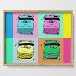 Let's warholize! Olivetti lettera22-style full of color Serving Tray