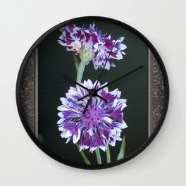 Bachelor Button from the Frosted Queen Mix Wall Clock