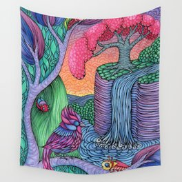 Showdown at Sunset Wall Tapestry