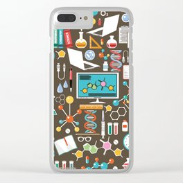 Chemistry Pattern Clear iPhone Case