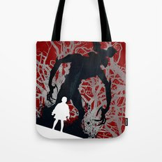 Stranger Things - TV Series | 80's | Cult | TV | Monster | Forest | Eleven | Movie | Poster Tote Bag