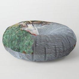 Riverboat in Minnesota-Fall Colors Floor Pillow
