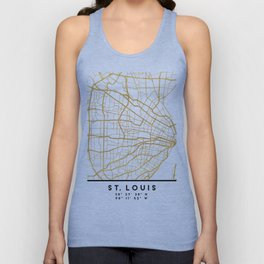 ST. LOUIS MISSOURI CITY STREET MAP ART Unisex Tank Top