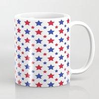 patriotic Mugs featuring Patriotic Stars by Jennifer Agu