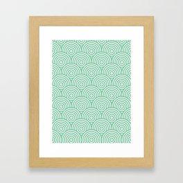 Scales - Green & White #353 Framed Art Print