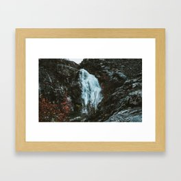 Touron's Waterfall. Framed Art Print