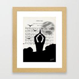 Sister moon Framed Art Print