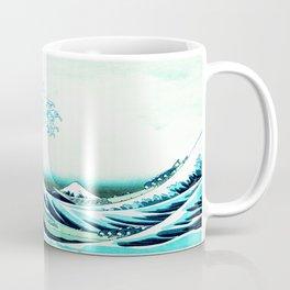 the great wave : aqua teal Coffee Mug