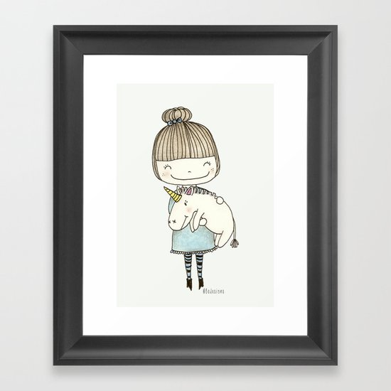 unicorn girl Framed Art Print