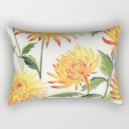 Dahlia Flowers 1 Rectangular Pillow