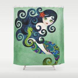 Aquamarine Mermaid Shower Curtain